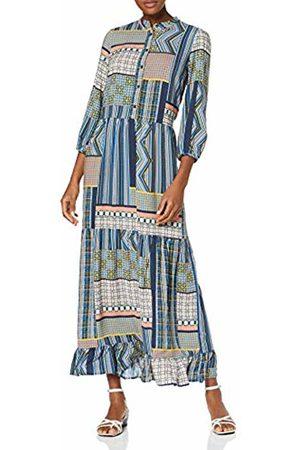 Vila Women's Viagata New 3/4 Dress (Navy Blazer AOP: )