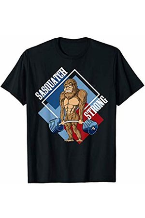 Sasquatch Big Foot Apparel Co Sasquatch Big Foot Deadlifting Weightlifting Gym Fitness T-Shirt