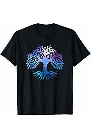 Ancient Cosmic Esoteric Symbols Divine Protection Cosmic Colorful Tree of Life Symbol Spiritual Yoga T Shirt T-Shirt
