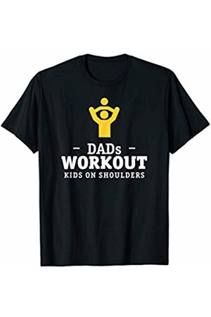 Dad Mom Gifts Perfect training for moms and dads - kid on shoulders T-Shirt