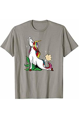 Yoga Fanatic By Pemissa Unicorn Yoga T-Shirt Cobra Pose Farting Magical Yogi Tee