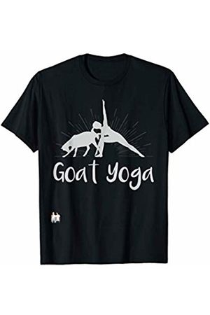 Goat Collection by Windy Ridge Shirts Goat Yoga (silver font) T-Shirt