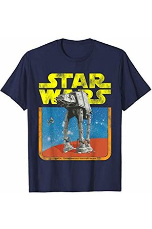 STAR WARS Boys Ties - AT-AT Walker TIE Fighter Distressed Retro T-Shirt