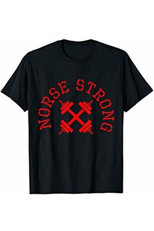 Norse Strong Scandinavian Weight Lifting Shirts Norse Strong Scandinavian Fitness Weight Lifting T-Shirt