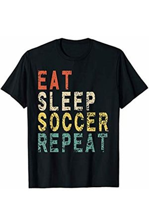 Eat Sleep Soccer Repeat Vintage Shirt Eat Sleep Soccer Repeat Funny Vintage Retro Sport Player T-Shirt