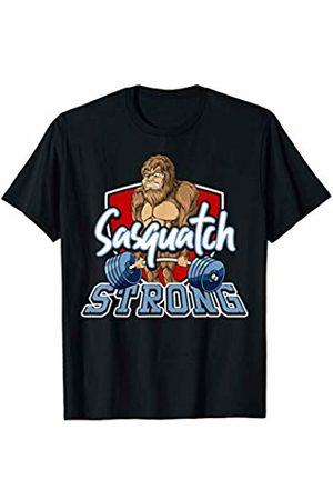 Sasquatch Big Foot Apparel Co Sasquatch Big Foot Deadlifting Weightlifting Gym Fitness T-Shirt