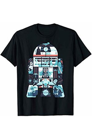 STAR WARS R2-D2 Geometric Simplified Story Graphic T-Shirt