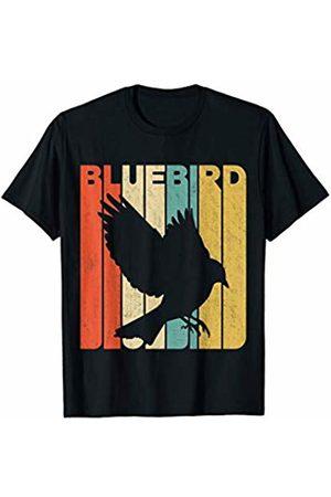 Classic Vintage Retro T-Shirts Vintage Retro Bluebird Silhouette T-Shirt