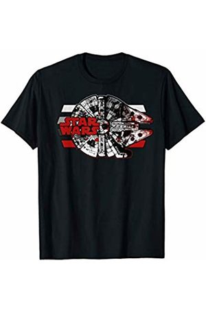 STAR WARS Last Jedi Falcon Red Splatter Logo Graphic T-Shirt