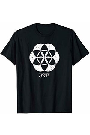 ".plant luV ""YOGA"" Sanskrit Flower of Life Pattern Mindfulness T-shirt"