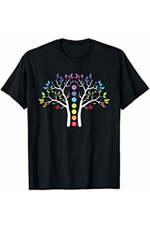 Hindu T-Shirts and Gifts Chakra Shirt Chakras Tree Meditation Yoga T-Shirt