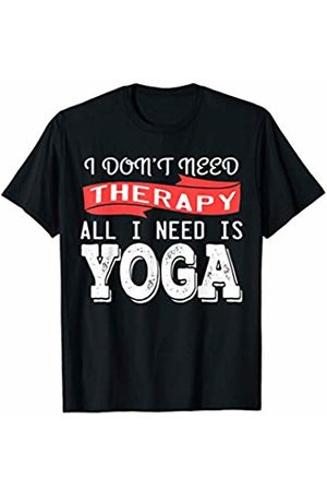 Funny Yoga Tee Meditation Spirituality Gift Yoga is my Therapy T-Shirt Fitness Meditate Exercise