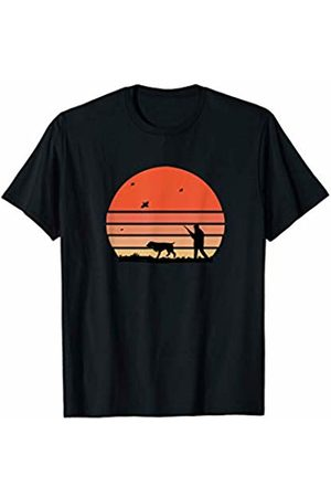 Retro Tee Co. Vintage Sun Hunting Dog Sports Hobby T-Shirt