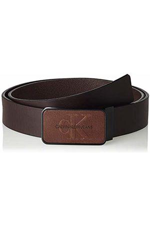 Calvin Klein Men's J 3.5cm Adj Mono Plaque Belt (Turkish Coffee 201)