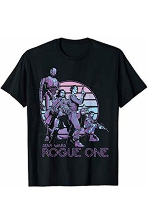 STAR WARS Rogue One Neon Sign Rebel Group Graphic T-Shirt