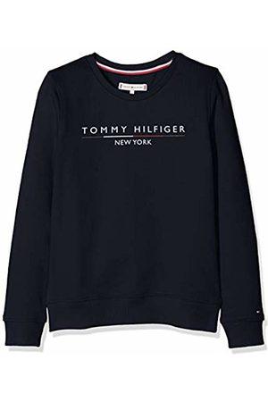 Tommy Hilfiger Girl's Essential Logo Crew Sweatshirt ( Iris 002)