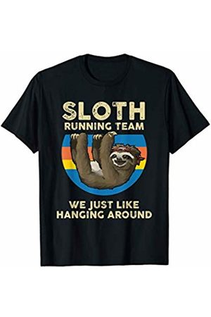 Sloth gift Sloth Running Team we just like hanging around Shirt