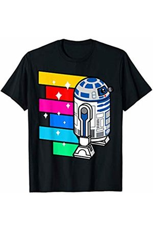 STAR WARS R2-D2 Rainbow Roll Cartoon Graphic T-Shirt C1