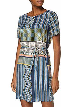 Vila Women's Viagata New S/s Dress (Navy Blazer AOP: )