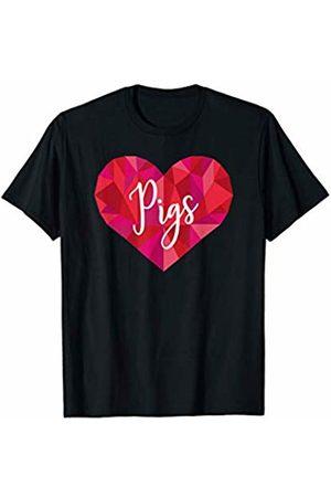 Triple G Mavs Pigs Heart Shirt Low Poly Geometric Gift