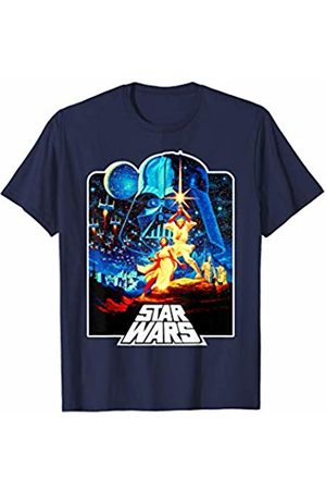 STAR WARS Women T-shirts - Classic Iconic Outlined A New Hope Poster T-Shirt