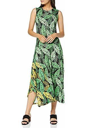 Joe Browns Women's Bright Tropical Leaf Print Jersey Dress Multi (Size:UK 10)