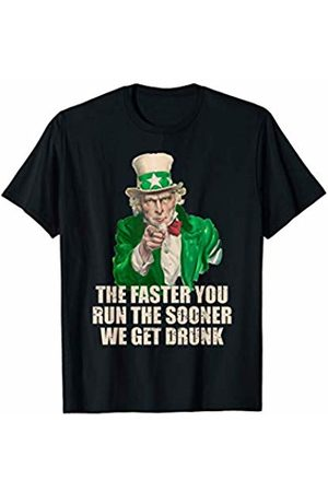 Green Supporter Apparel Running St Patricks Day T Shirt Irish Runner Shirt Team Gift