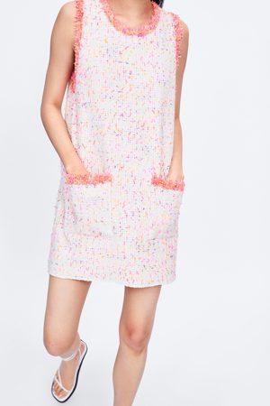 Zara Dress with frayed trims