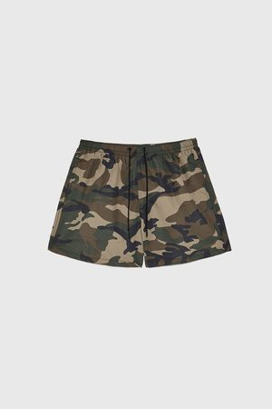 Zara Camouflage print swimming trunks