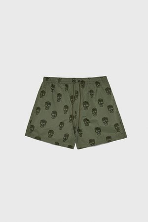Zara Skull print swimming trunks