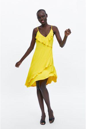 Zara Strappy dress with ruffle trim