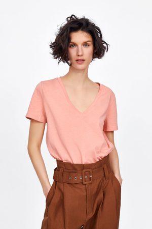 Zara V-neck basic t-shirt