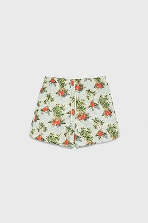 Zara Volcano print swimming trunks