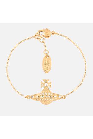 Vivienne Westwood Women's Minnie Bas Relief Bracelet - Crystal