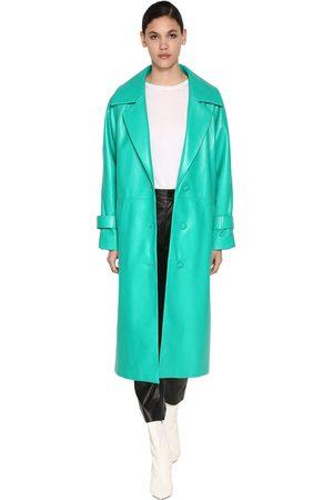 DROME Women Coats - Long Leather Coat