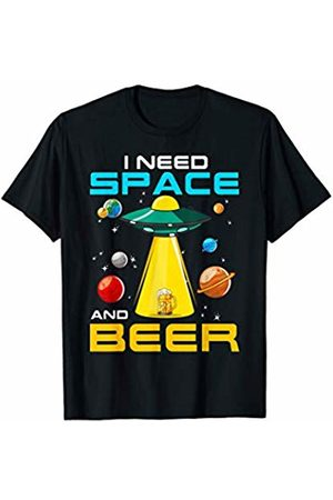 Tee Styley Women T-shirts - Space And Beer Funny Quotes Humor Science Drinking Gift T-Shirt