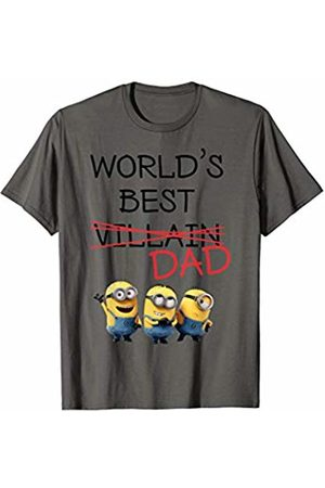 Minions World's Best Dad Minions Villain Crossed Out T-Shirt