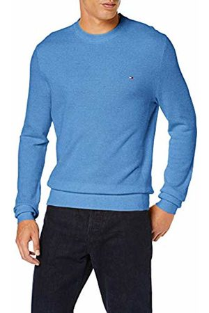 Tommy Hilfiger Men's Mouline Ricecorn Sweater Sweatshirt, Cornflower Heather 440