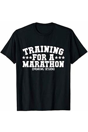Bowes Drinking Training For A Marathon Drinking Session T-Shirt