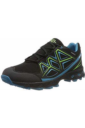 Bruetting Men's Power Low Rise Hiking Shoes, Schwarz/Petrol/Grün