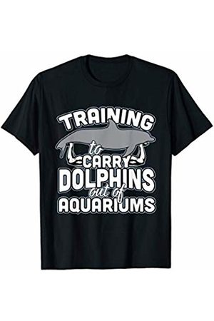 Bowes Dolphins Training To Carry Dolphins Out Of Aquariums T-Shirt