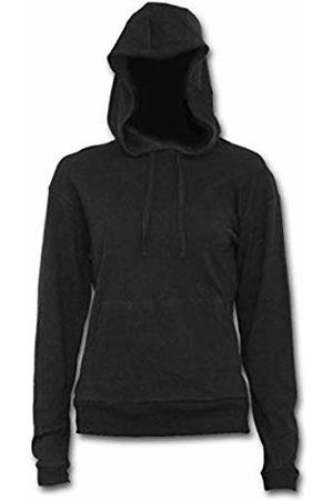 Spiral Direct Women's Metal Streetwear-Street Ribbed Large Hood Hoodie 001