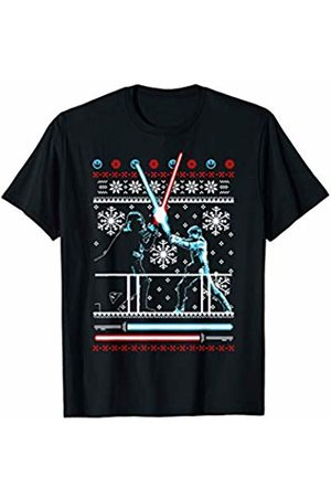 Star Wars Vader Luke Duel Christmas Sweater Graphic T-Shirt