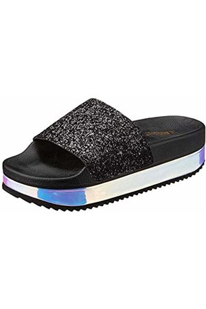THE WHITE BRAND Women's High Holographic Platform Sandals