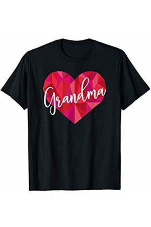 Triple G Mavs Grandma Heart Shirt Low Poly Geometric Gift