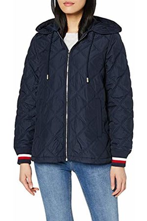 Tommy Hilfiger Women's Ivan Quilted Bomber Jacket (Sky Captain 403)