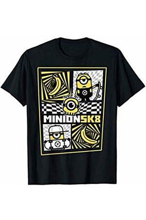 Minions Minion SK8 Pattern Graphic T-Shirt