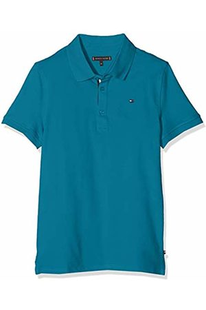Tommy Hilfiger Boy's Essential Slim Polo S/s Shirt, (Saxony 491)