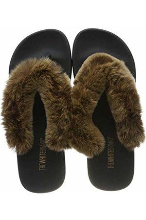 THE WHITE BRAND Women's Fur Flip Flops