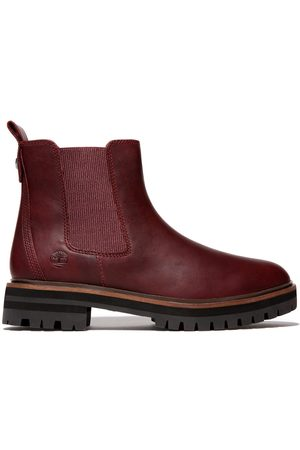 Timberland London square chelsea boot for women in burgundy burgundy, size 3.5